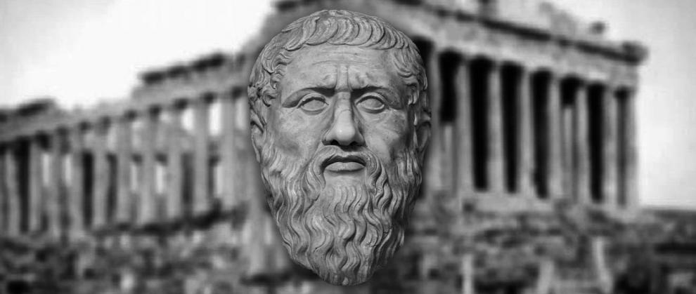Imagem da escultura de Platão